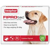 Beaphar Fiprotec Spot On Flea Removal and Prevention for Large Dogs (20 - 40kg) - 6 Treatments