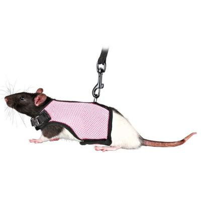 Trixie Soft Harness For Small Animals With Lead 1.20m Rats 12-18cm