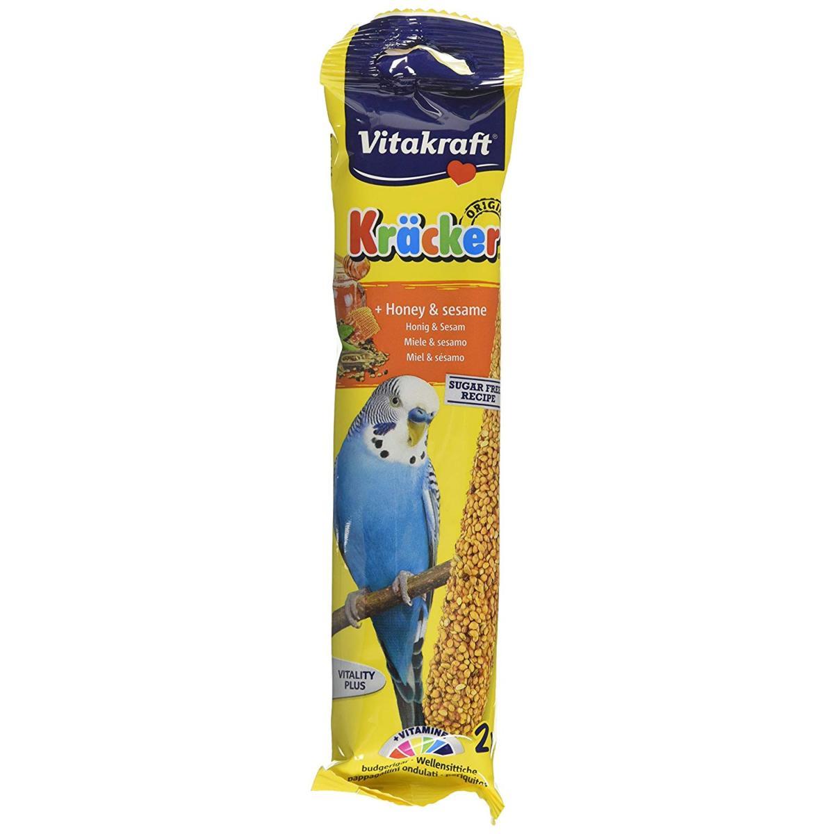 Vitakraft Kracker Budgie Treat Sticks (2 Pack) - Honey & Sesame