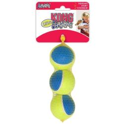 ASSISI ANIMAL SANCTUARY DONATION - Kong Ultra SqueakAir Tennis Ball Medium 3 Pack
