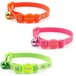 Ancol Reflective Hi Vis Cat Safety Collar with Bell