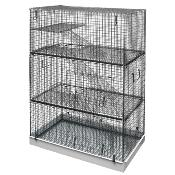 Lazy Bones Wire Chinchilla Cage 3 Story