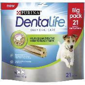 DOTS LONDON DONATION - Dentalife Dog Dental Chew Treats - Small, 21 Sticks
