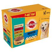 DOTS OXFORD DONATION - Pedigree Pouches (Senior) - Variety In Jelly (60 X 100g)