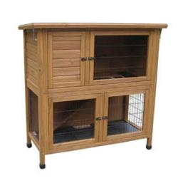 "Lazy Bones Rabbit Hutch & Run Solid Base 46"" LB-314"